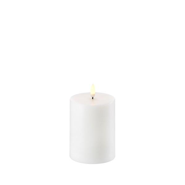 LED Kerze 7,8 x 10 cm Nordic White